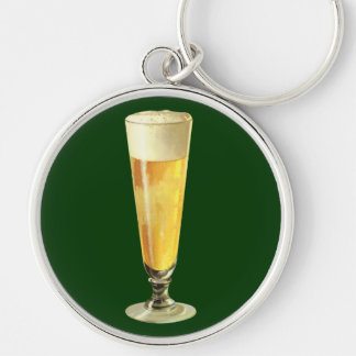 Vintage Tall Frosty Draft Beer Alcohol Beverage Key Chains