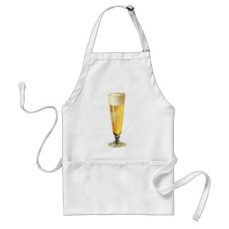 Vintage Tall Frosty Draft Beer, Alcohol Beverage Standard Apron