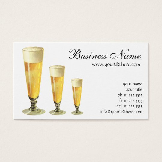 Vintage Tall Frosty Draught   Beer, Alcohol Business Card