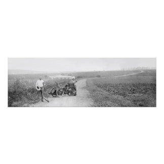 Vintage tandem 3-wheeler photo print