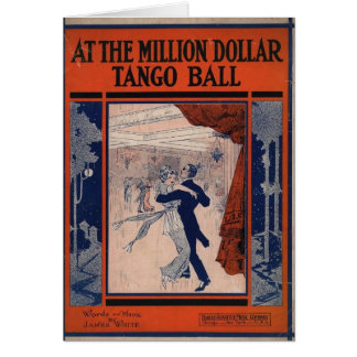 Vintage Tango Book Cover Greeting Card