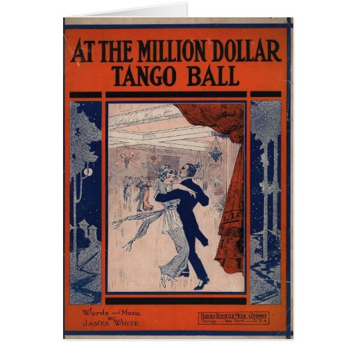 Vintage Tango Book Cover Greeting Cards