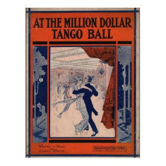 Vintage Tango Book Cover Postcard