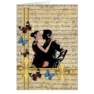 Vintage tango card