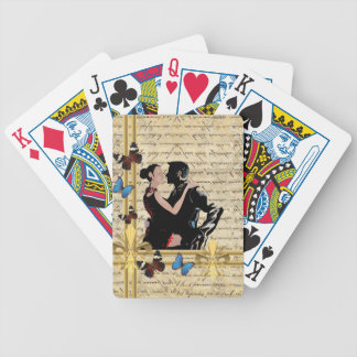 Vintage tango dancers bicycle playing cards