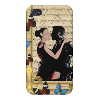 Vintage tango dancers. case for iPhone 4
