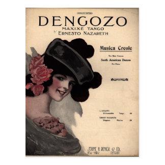 Vintage Tango Sheet Music Postcard
