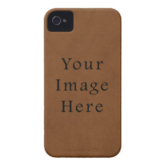 Vintage Tanned Brown Leather Parchment Paper iPhone 4 Covers