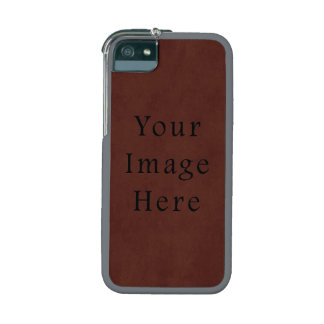 Vintage Tanned Brown Mahogany Leather Parchment Cover For iPhone 5