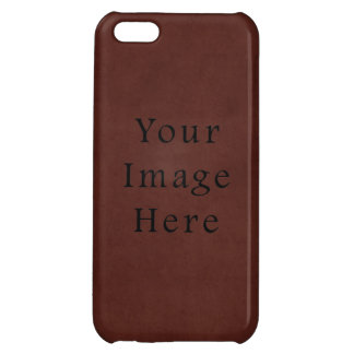 Vintage Tanned Brown Mahogany Leather Parchment iPhone 5C Cases