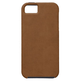 Vintage Tanned Leather Brown Parchment Template iPhone 5 Case