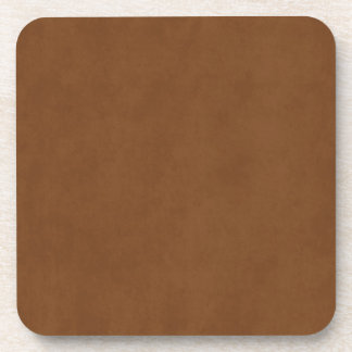 Vintage Tanned Leather Brown Parchment Template Drink Coaster