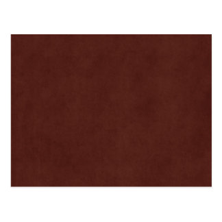 Vintage Tanned Leather Dark Brown Parchment Paper Postcard