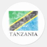 Vintage Tanzania Round Sticker