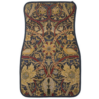 Vintage Tapestry Floral Fabric Pattern Car Mat