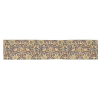 Vintage Tapestry Floral Fabric Pattern Short Table Runner