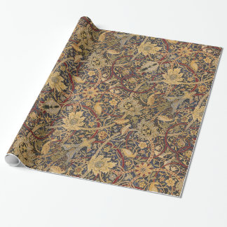 Vintage Tapestry Floral Fabric Pattern Wrapping Paper