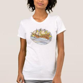 Vintage tarot inspired t-shirt - 'The Ship'