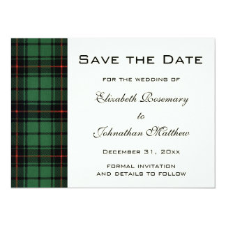 Vintage Tartan, Davidson Modern Pattern Wedding Card