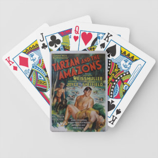 Vintage Tarzan Bicycle Playing Cards
