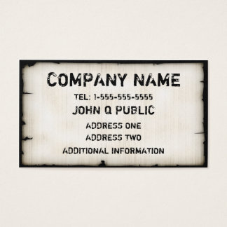 Vintage Tattered Business Cards