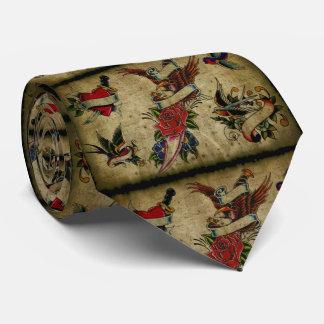 vintage tattoo design tie