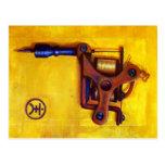 Vintage Tattoo Machine (Yellow) Post Card
