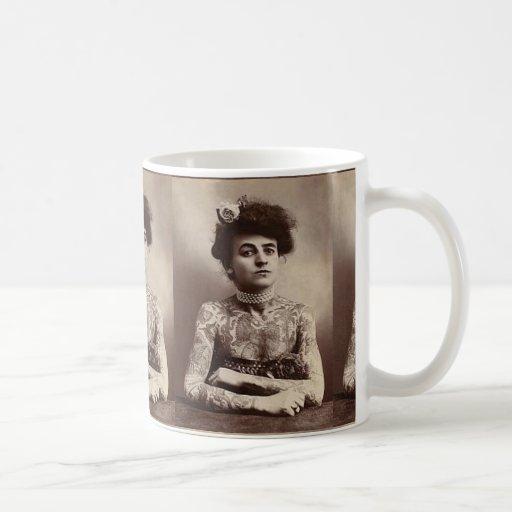 Vintage Tattooed Woman Mug Mug