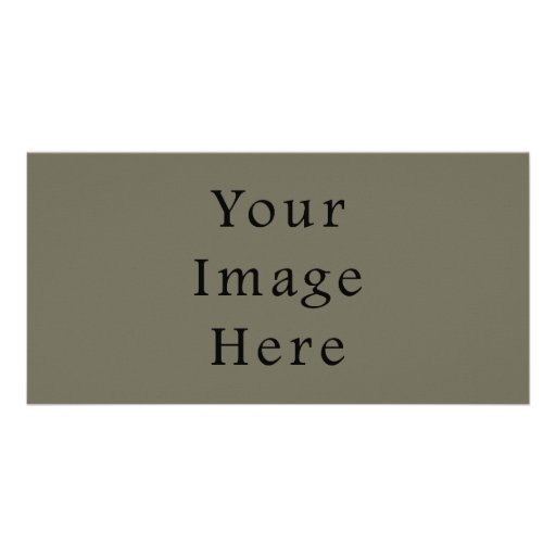 Vintage Taupe Green Color Trend Blank Template Photo Cards