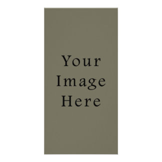 Vintage Taupe Green Color Trend Blank Template Customized Photo Card