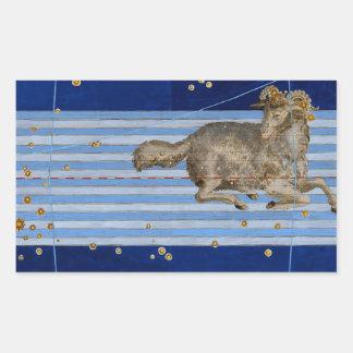 Vintage Taurus Star Chart Sticker