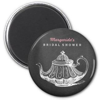 Vintage Tea Party Bridal Shower Favors Ideas 6 Cm Round Magnet