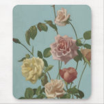 Vintage Tea Rose and Blush Roses Mouse Pad