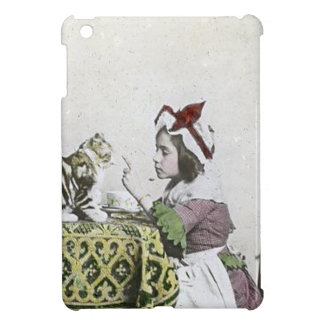 Vintage Tea Time Party With Naughty Kitty iPad Mini Cases