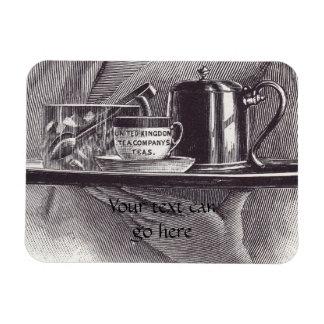 Vintage Tea Tray Rectangular Photo Magnet