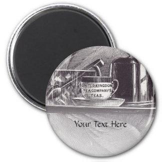 Vintage Tea Tray Refrigerator Magnets