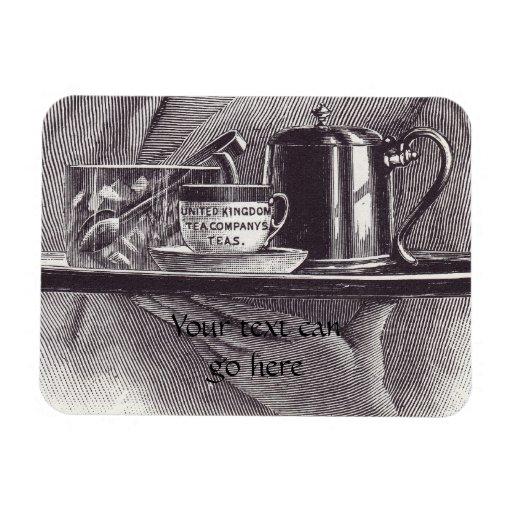 Vintage Tea Tray Flexible Magnets
