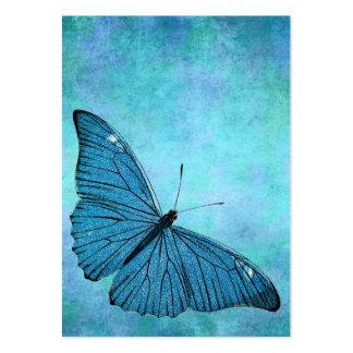 Vintage Teal Blue Butterfly 1800s Illustration Business Cards