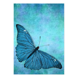 Vintage Teal Blue Butterfly 1800s Illustration Pack Of Chubby Business Cards
