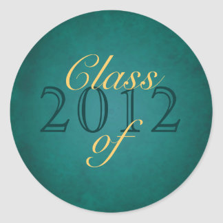 Vintage Teal Class of Graduation Sticker