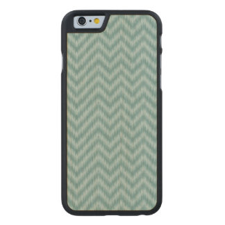 Vintage Teal Green Ikat Chevron Zigzag Carved® Maple iPhone 6 Case