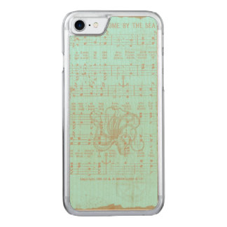 Vintage Teal Nautical Musical Sheet Carved iPhone 8/7 Case