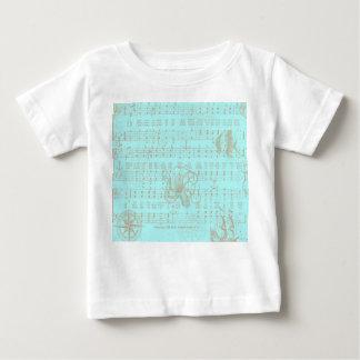 Vintage Teal Nautical Musical Sheet T-shirts