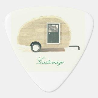 Vintage teardrop trailer gypsy caravan plectrum