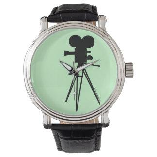 Vintage Technicolor Movie Camera Silhouette Watch