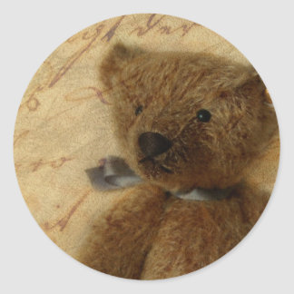 Vintage Ted Classic Round Sticker