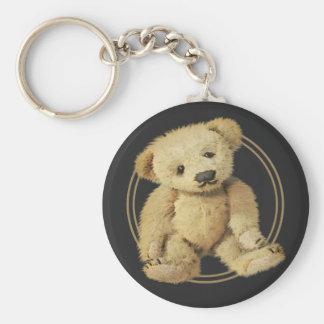 Vintage Teddy Bear Basic Round Button Key Ring