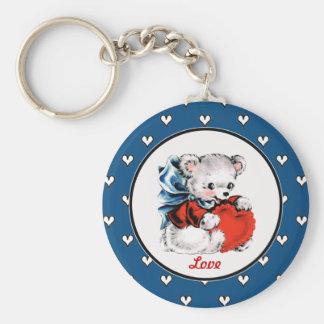 Vintage Teddy Bear Valentine's Day Gift Keychains
