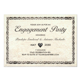 Vintage Telegram Engagement Party Invitations