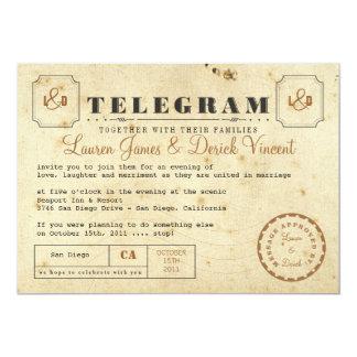 Vintage Telegram Invitation Postcard